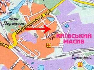Школа №12 Коростень на карте