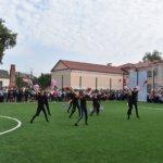 Открытие нового поля для мини-футбола СОШ №8 города Коростень