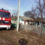 Пожар в Коростенском районе. Фото