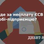 За борг понад 1 020 грн  ЄСВ ФОПа  буде переведено на загальну систему оподаткування
